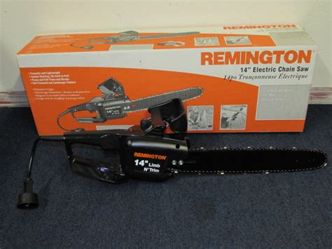 "Lot Detail   LIKE NEW REMINGTON 14"" LIMB & TRIM ELECTRIC"