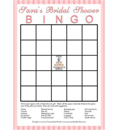 personalized printable bridal shower bingo game stripes