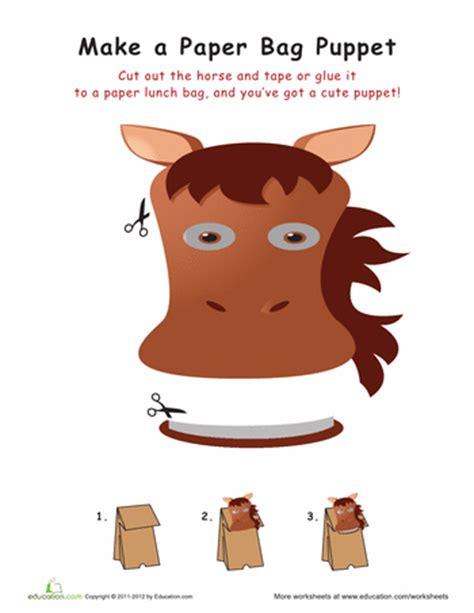 horse paper bag puppet paper bag puppets puppets wild
