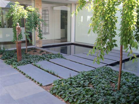 landscape tile bluestone pavers water feature resonate well with australian garden setting basalt