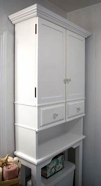 over the toilet storage cabinet The RunnerDuck Bathroom Cabinet plan, is a step by step ...