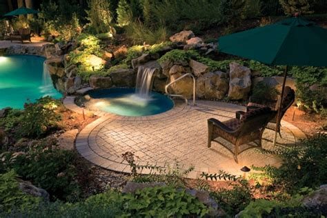water features swimming pool waterfalls  fountains