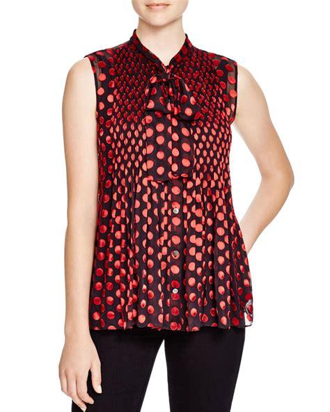 polka dot blouses diane furstenberg aidan polka dot blouse in black lyst