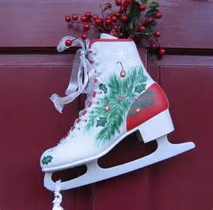 17 best ideas about painted ice skates on pinterest xmas decorations snowman and christmas sled