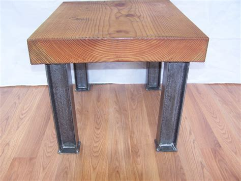 Modern Industrial Coffee Table Legs I Beam Structural Steel