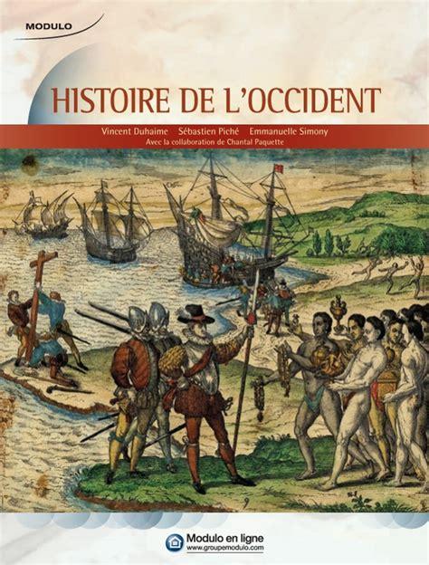 cuisine chantal histoire de l 39 occident livre histoire modulo