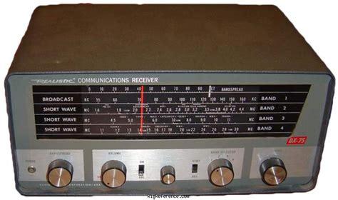 Radioshack / Realistic Dx-75 Specifications