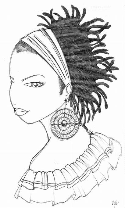 Natural Afro Hairstyles Colouring Lyla Negra Sheets