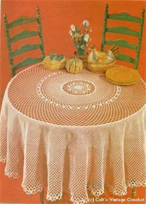 Round and Round Tablecloth   Written Pattern   Crochet