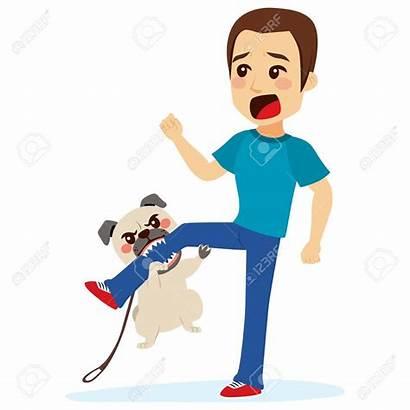 Dog Attacking Clipart Bite Biting Leg Bulldog