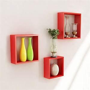 Wall mounted cube shelves decor ideasdecor ideas