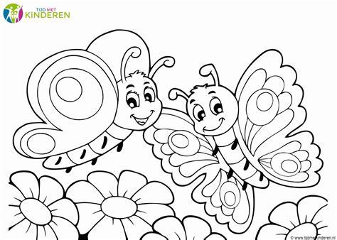 Kleurplaat Eenvoudig by Kleurplaat Vlinder Beste Vlinder Kleurplaten Eenvoudig
