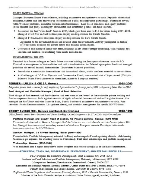 Banker Resume Objective by Investment Banking Resume Sle Jennywashere