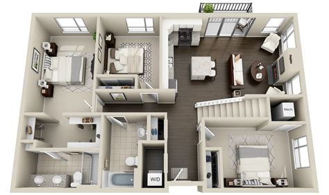 2_townhomes And Lofts « 3dplans.com