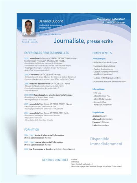 Creation Cv Gratuit by Exemple Cv Journaliste Gratuit