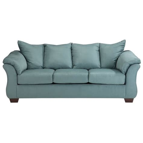 ashley darcy sectional sofa ashley darcy fabric full size sleeper sofa in sky 7500636