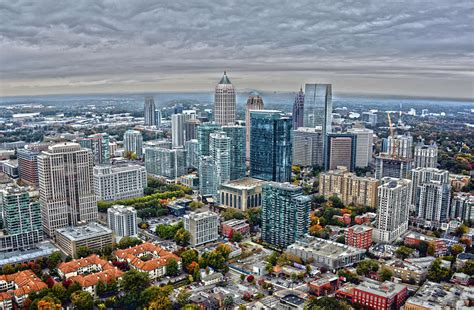 L'équipe.fril y a 8 heures. Aerial View of Atlanta Photograph by Claire Bove