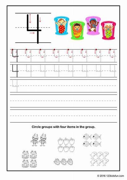 123 Worksheets Numbers Kindergarten Preschool Fun Counting