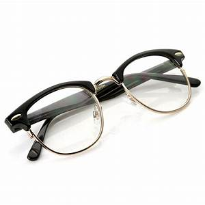 Classic half frame that features clear lenses for a sharp ...