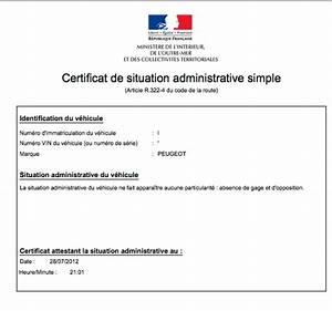 Certificat De Cession Prefecture Courrier : la demande de certificat de non gage ~ Medecine-chirurgie-esthetiques.com Avis de Voitures