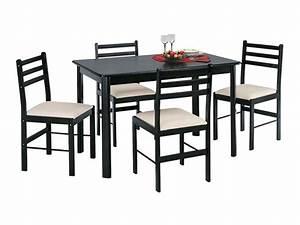 Chaises Cuisine Confortables : ensemble table 4 chaises new quatro dark vente de ensemble table et chaise conforama ~ Teatrodelosmanantiales.com Idées de Décoration