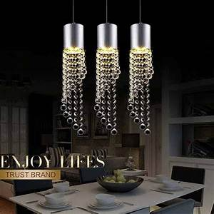 5w led lamp modern crystal pendant light kitchen dining for 5 lamp kitchen light