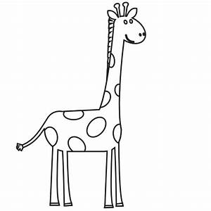 Black And White Giraffe Clipart