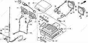 Honda Motorcycle 1997 Oem Parts Diagram For Radio Cassette