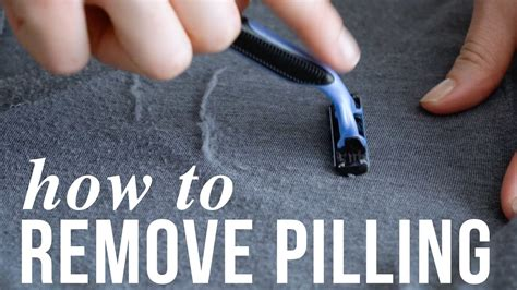 How To Remove Pilling, Aka Lint Balls Youtube