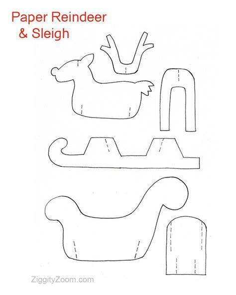 diy paper sleigh kids diy paper reindeer sleigh paper reindeer and