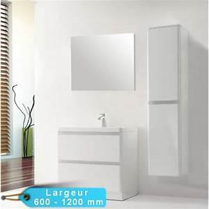 ensemble meuble de salle de bain au sol rondo avec son With meuble salle de bain et miroir
