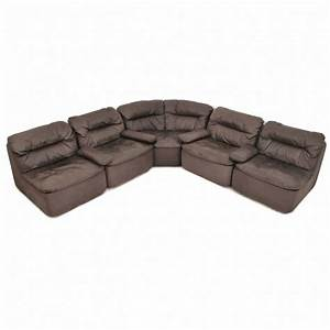 german leather modular sofa by friedrich hill for walter With german leather sectional sofa