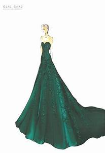 elie saab croquis drawing sketch illustration art With croquis de robe