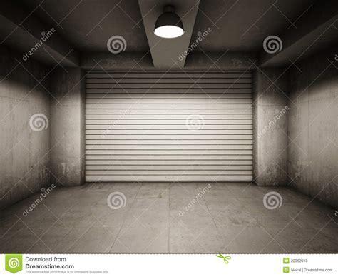 Empty garage stock illustration. Image of aging, door