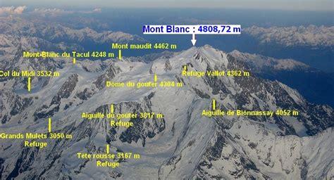 altitude du mont blanc le mont blanc