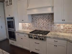 brick backsplash kitchen brick backsplash in the kitchen presented with soft colors combination home design decor idea