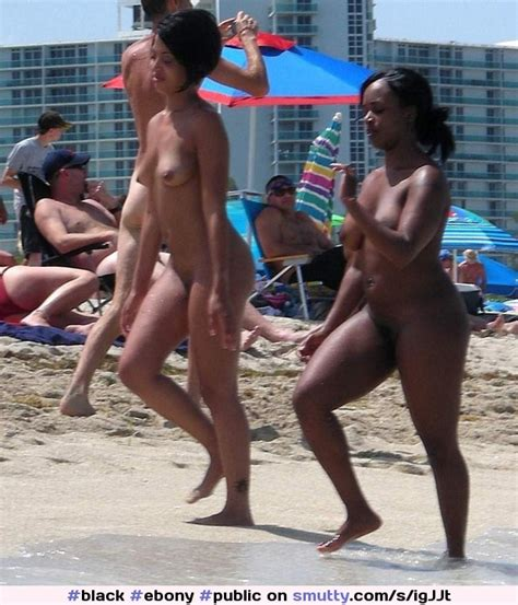 Black Ebony Public Nude Beach