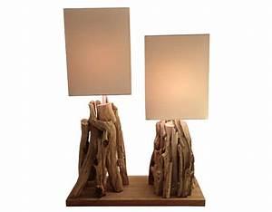 Lampe Bois Design : lampe d co originale en bois de r cup ration pi ce unique ~ Teatrodelosmanantiales.com Idées de Décoration