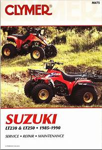 Suzuki Lt230  Lt250 Atv Repair Manual 1985