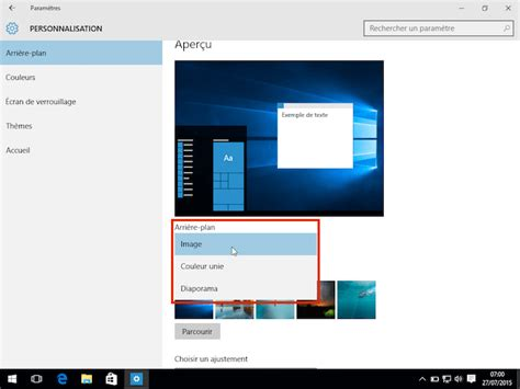 afficher les icones du bureau comment changer le fond d 39 écran de windows 10