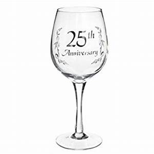 amazoncom ganz 25th anniversary wine glass er29291 With 25th wedding anniversary glasses