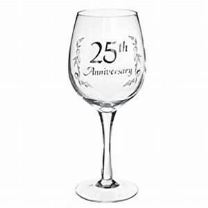 amazoncom ganz 25th anniversary wine glass er29291 With 25th wedding anniversary glasses