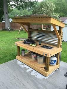 Weber Kettle Homemade Cart/Table - The BBQ BRETHREN FORUMS