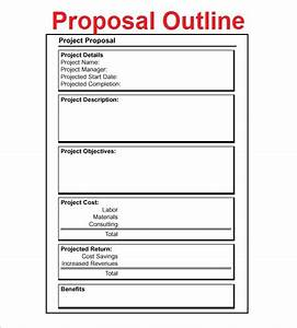 proposal outline templates 20 free free word pdf With project outline template microsoft word