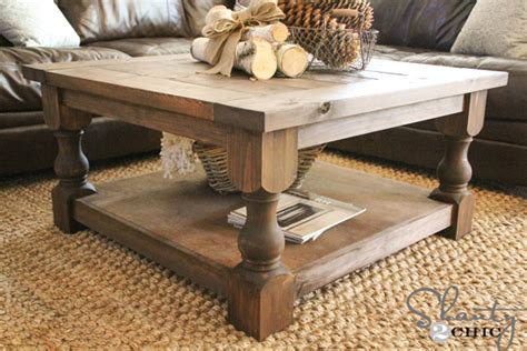 how to make a coffee table higher diy square coffee table shanty 2 chic