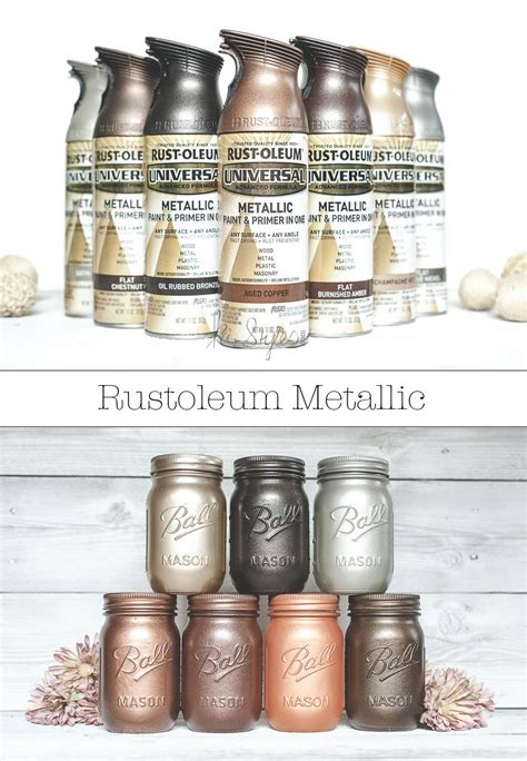 rust oleum metallic spray paints metallic spray paint