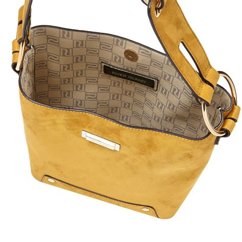 river island yellow monogram strap handbag  yellow lyst
