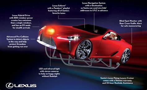 lexus christmas santa gets new sleigh courtesy of lexus clublexus