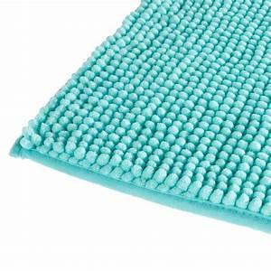 Carrelage Vert D Eau : tapis de salle de bain chenille 80x50cm vert d 39 eau ~ Melissatoandfro.com Idées de Décoration