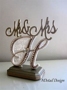 wedding cake topper quotmr mrsquot monogram letter h in With cake topper letter h